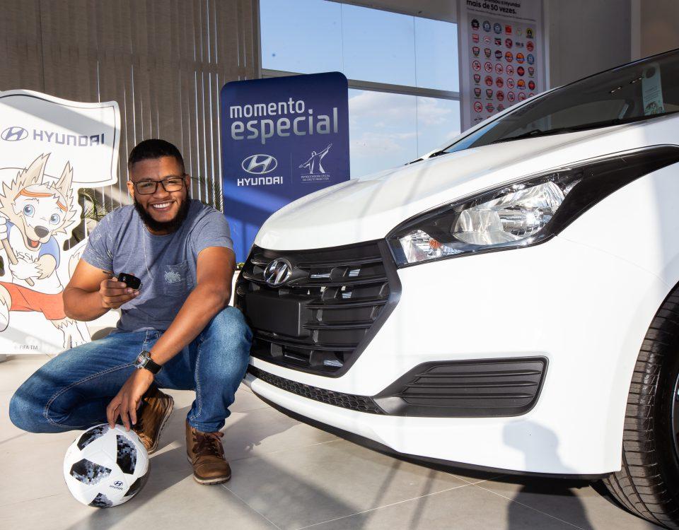 Ellison Dias de Souza, 24 anos, foi o ganhador da rifa do HB20 Copa do Mundo