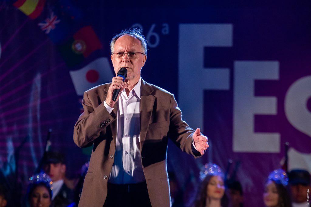 O prefeito Barjas Negri declara aberta oficialmente a 36ª Festa das Nações (FotoPerigo)